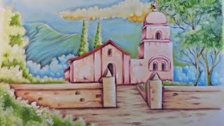 Pintando Paisagem com Igreja