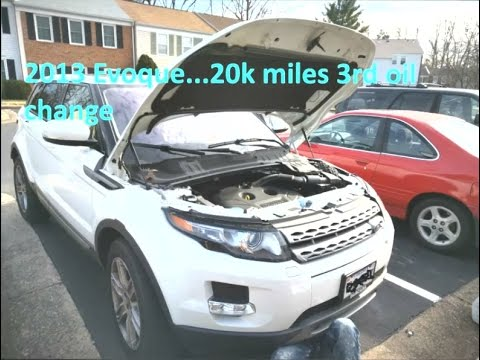 Range Rover Evoque Engine/Motor OIL CHANGE How to - YouTube