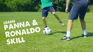 Learn a Ronaldo skill & panna move with Leo and STR ad