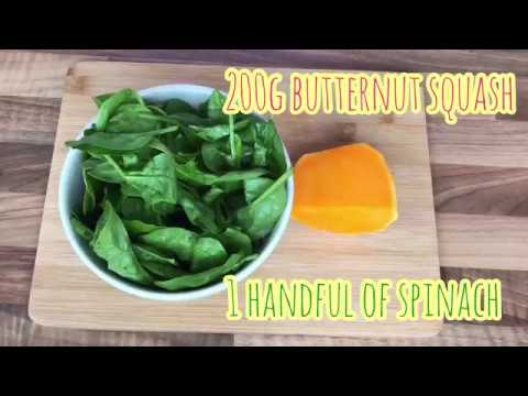 How To Make Homemade Baby Food From 6 Months - Butternut Squash + Spinach Purée