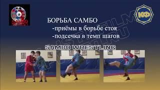 Техника борьбы самбо. Подсечка в темп шагов. kfvideo.ru