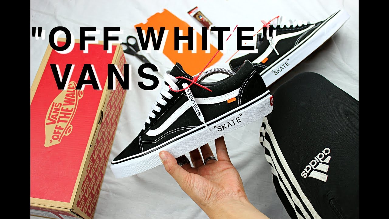11c6aaf2319 OFF WHITE VANS DIY - YouTube