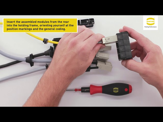 HARTING Han-Modular® Flexbox – Assembly instruction