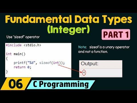 Fundamental Data Types − Integer (Part 1)