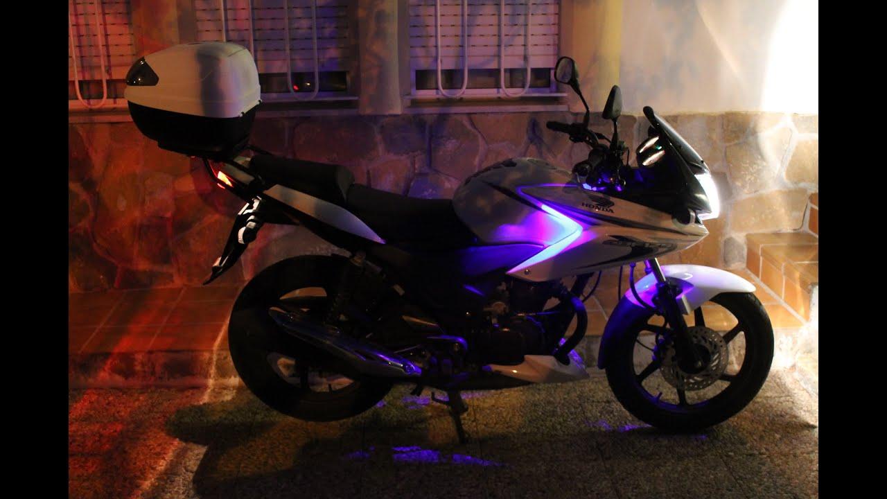 Como colocar Luces led a una moto Tutorial YouTube