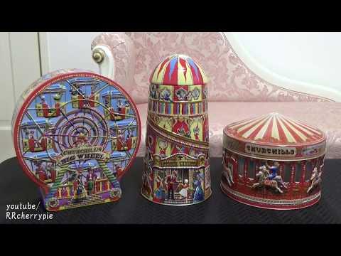 Churchill's Carousel Tin, Big Wheel Tin, Helter Skelter Tin