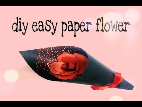 diy paper flower or ( paper rose )/ how to make a small Bouquet of paper flower  / paper crafts 2019