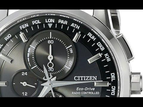 3994b61d72de1 Citizen Men s AT8110-53E World Chronograph A-T Analog Display Japanese  Quartz Silver Watch