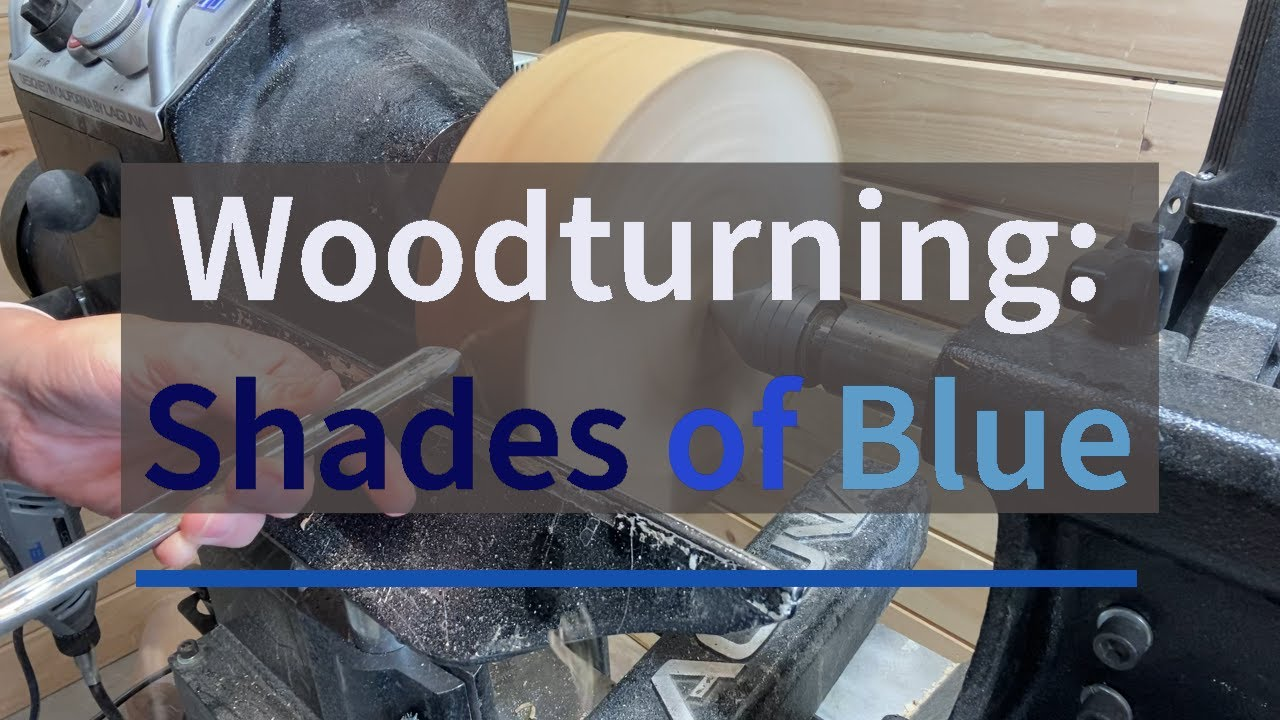 Woodturning Figured Maple --SHADES OF BLUE--With Color and Texture