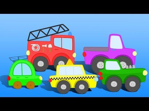 Сборник видео про МАШИНКИ - Милый Жёлтый Грузовичок, Отважная Пожарная машинка и многие другие