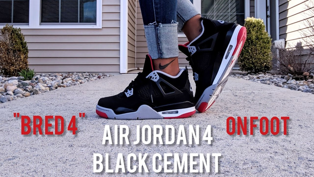 2aa7d096a62 Early Look at GS AIR JORDAN RETRO 4 BLACK CEMENT aka BRED 4 - On ...