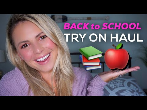 BACK TO SCHOOL GIVEAWAY ft. NEW FALL FEELS | TRY ON + HAUL + TUTORIAL | tarte tutorial thumbnail