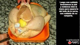 Pollo asado con papas en microondas - La web de cocina de Mabel