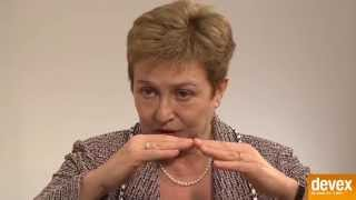 Commissioner Kristalina Georgieva on humanitarian work in Syria
