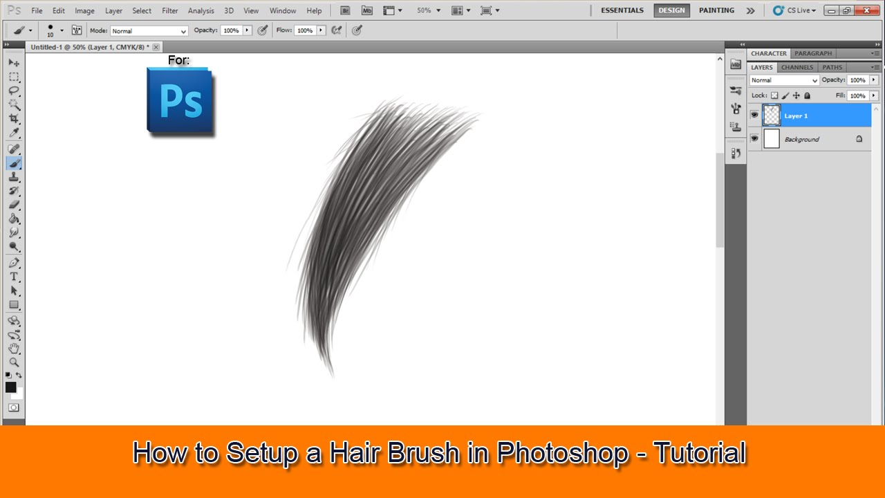 How to Setup a Hair Brush in Photoshop - Tutorial