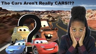 THE CARS IN THE MOVIE CARS AREN'T REALLY CARS!?? (REACTION)