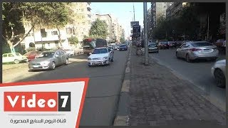 النشرة المرورية.. كثافات مرورية بسبب مياه الأمطار بمحاور القاهرة والجيزة