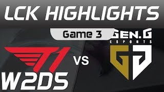 T1 vs GEN Highlights Game 3 LCK Spring 2020 W2D5 T1 vs Gen G LCK Highlights 2020 by Onivia
