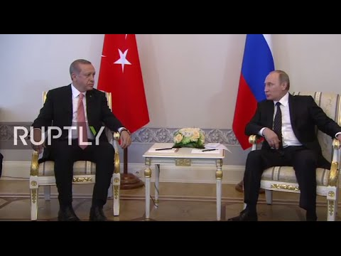 LIVE: Putin holds a bilateral meeting with Erdogan in St. Petersburg