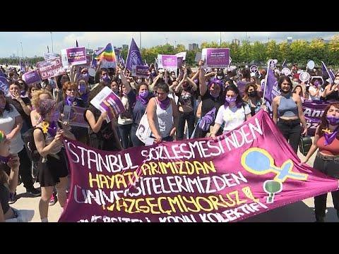 مسيرة نسائية في إسطنبول دفاعا عن حقوق المرأة  - 19:55-2021 / 6 / 19