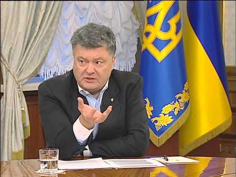 Полное интервью Порошенко ведущим телеканалам Украины