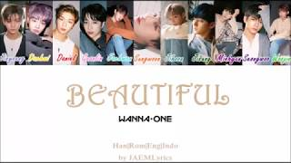Wanna One BEAUTIFUL Color Coded Han Rom Eng Indo Lyrics.mp3