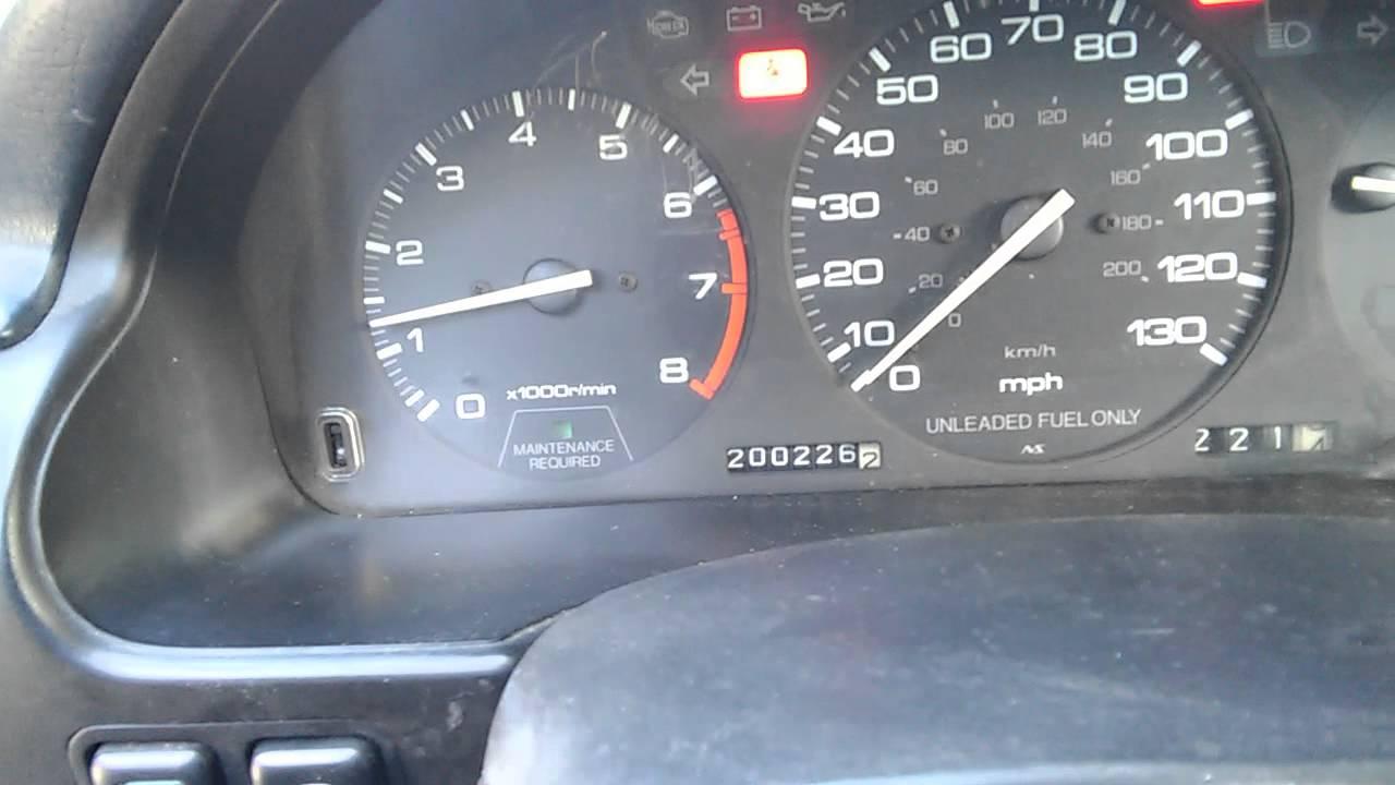1992 Honda Accord Code 6 ect sensor D4 Light Blinking