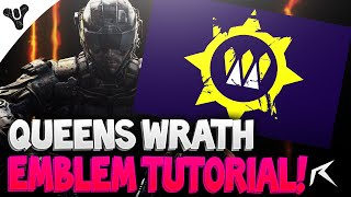 call of duty black ops 3 destiny queens wrath emblem tutorial
