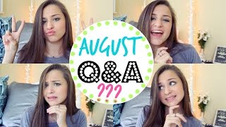 BOYFRIENDS & HAIRCARE ROUTINES! | August Q&A Thumbnail