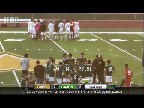 LIVE! Citrus Valley Vs. Cajon Boys Soccer (1-17-20)