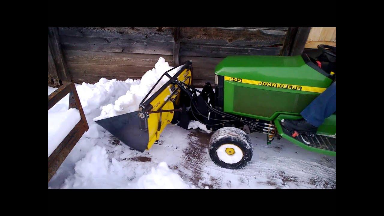 John Deere Snow Plow : John deere quot plow bucket in the snow youtube