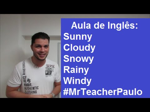 Aula de Inglês: How is the weather today?