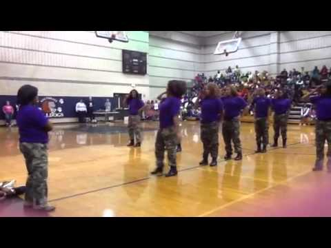 Southeast Raleigh High school Pep Rally - Step Team