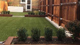 Artificial Grass, Paving & Sleeper Beds - Garden Transformation - Richmond UK