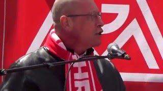 Uwe Hück !!! REGT SICH NICHT AUF !!! IGM Kundgebung Pforzheim 2016 zur 3. Verhandlungsrunde