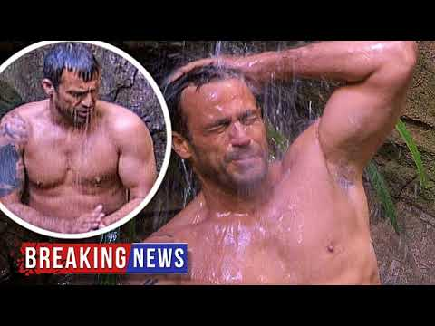 HOT NEWS I'm A Celebrity: Jamie Lomas takes jungle shower | Daily Mail Online