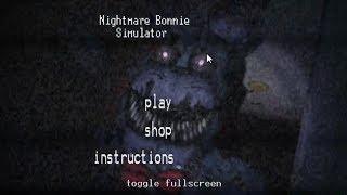Nightmare Bonnie Simulator - Плюшевый Фредбер