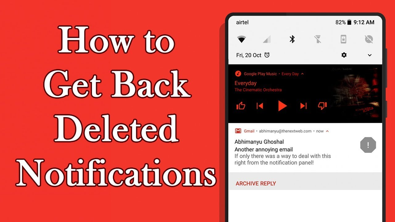 How To Get Deleted Notifications Back Youtube
