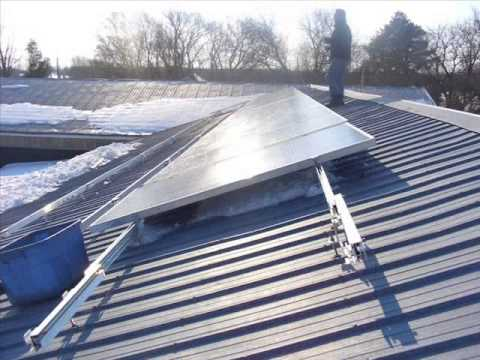 Installing Pv Solar Panels On A Barn Roof In Ontario Youtube