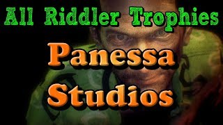 """Batman: Arkham Knight"" All Riddler Trophies and Challenges in Panessa Studios"