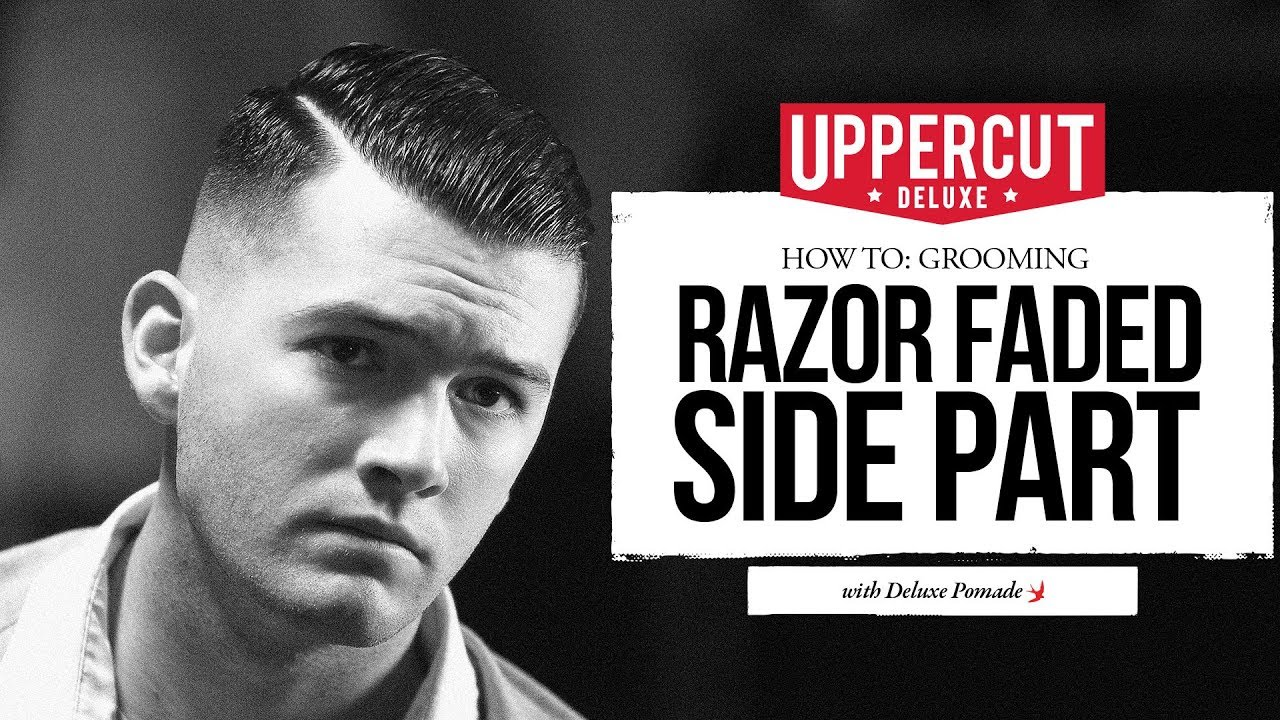 how to style a side part with a razor fade | uppercut deluxe