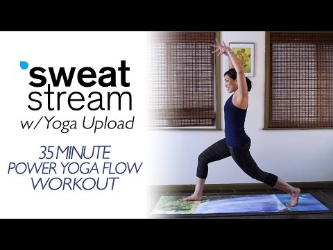 35 Minute Power Yoga Flow for Strength Flexibility, and Balance w/ Yoga Upload