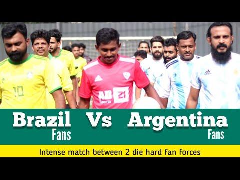 Argentina Vs Brazil | Die hard Fans | 5's Football Match | Vadakkummuri | Beauchamp, Areekode | AD21