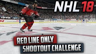 Can I Win a Shootout by Shooting from Center Ice Only? (NHL 18 Challenge)