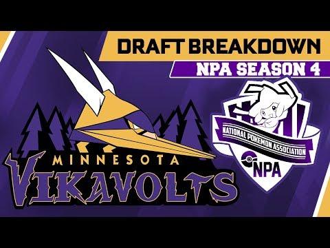 DRAFT BREAKDOWN! NPA Champion Minnesota Vikavolts Draft! National Pokemon Association S4