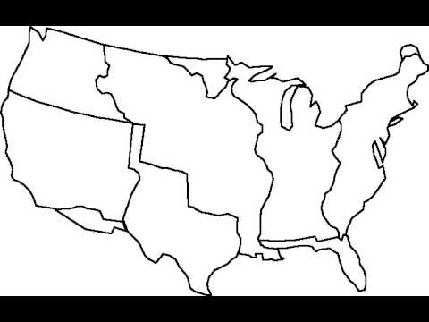 Manifest Destiny Map Outline