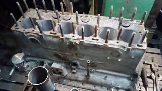 Блок цилиндров газ-51...готовим к гильзовке ;))))