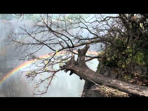 Waterfall Rainbow --Victoria Falls Zambia