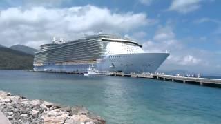 OASIS OF THE SEAS CRUZEIRO DA ROYAL CARIBBEAN ATRACADO EM LABADEE HAITI POR DUONE LATINO