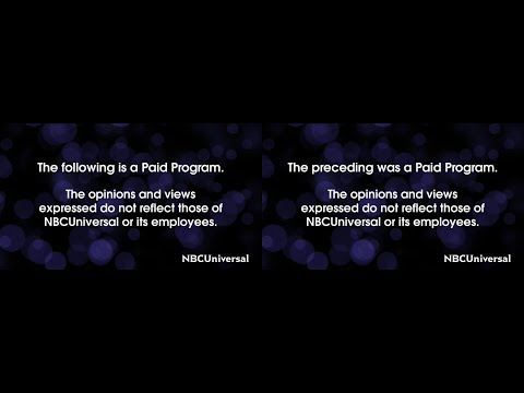 NBCUniversal Paid Programming Disclaimers (March 17, 2018)